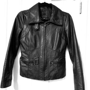 Banana Republic Black Leather Moto Jacket NWOT